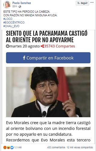 Evo Morales No Dijo Que La Pachamama Estaría Castigando Al