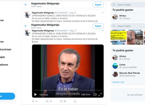 Andrés Oppenheimer no opinó sobre la situación económica de Bolivia