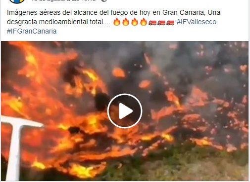 Atención: circula video de incendio forestal que no pertenece a la región de Roboré