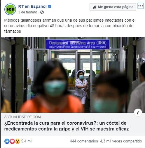 Coronavirus: Ni te asustes ni generes ilusiones falsas