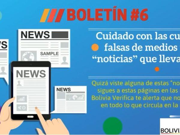 """Cuidado con las cuentas falsas de medios y con """"noticias"""" que llevan sus logos – Boletín 6 – 2020"""
