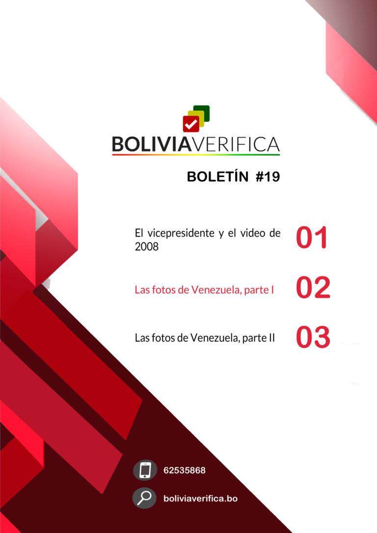 Desinformación desde el Gobierno – Boletín 19 Bolivia Verifica