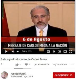 Engañosa difusión de un video de Carlos D. Mesa en redes sociales