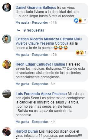 Esta foto es de 12 días antes del anuncio de los dos casos de Covid-19 en Bolivia y, al parecer, ni siquiera es del país