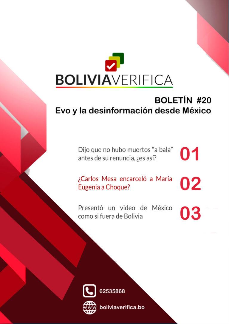 Evo y la desinformación desde México – Boletín 20 Bolivia Verifica