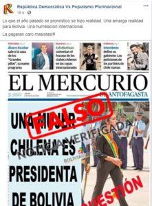 Falsa portada sobre Salvatierra atribuida a un periódico