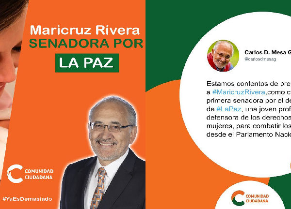 Falso que Maricruz Ribera será candidata de Comunidad Ciudadana