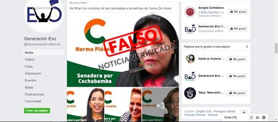 Falso que se filtraron nombres de las candidatas a senadoras de Comunidad Ciudadana