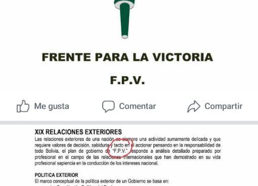 FPV plantea la política exterior del Perú