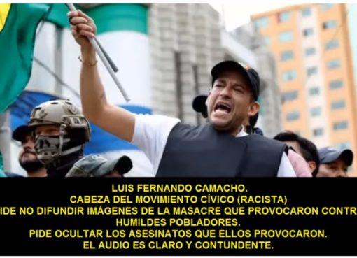 La voz que aparece en un video para pedir ocultar hechos de violencia no es de Luis Fernando Camacho