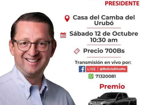 Ortiz rifa una camioneta para su campaña
