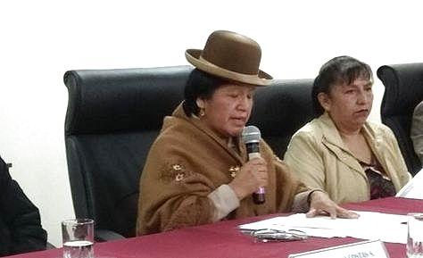 Sí, es verdad, María Eugenia Choque, presidenta del TSE, fue viceministra durante el mandato de Mesa