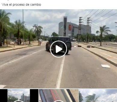 Vecinos del Urubó impiden el paso de un vehículo que transportaba detenidos brasileños