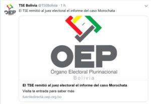 Verdadero: TSE remitió informe del caso Morochata.