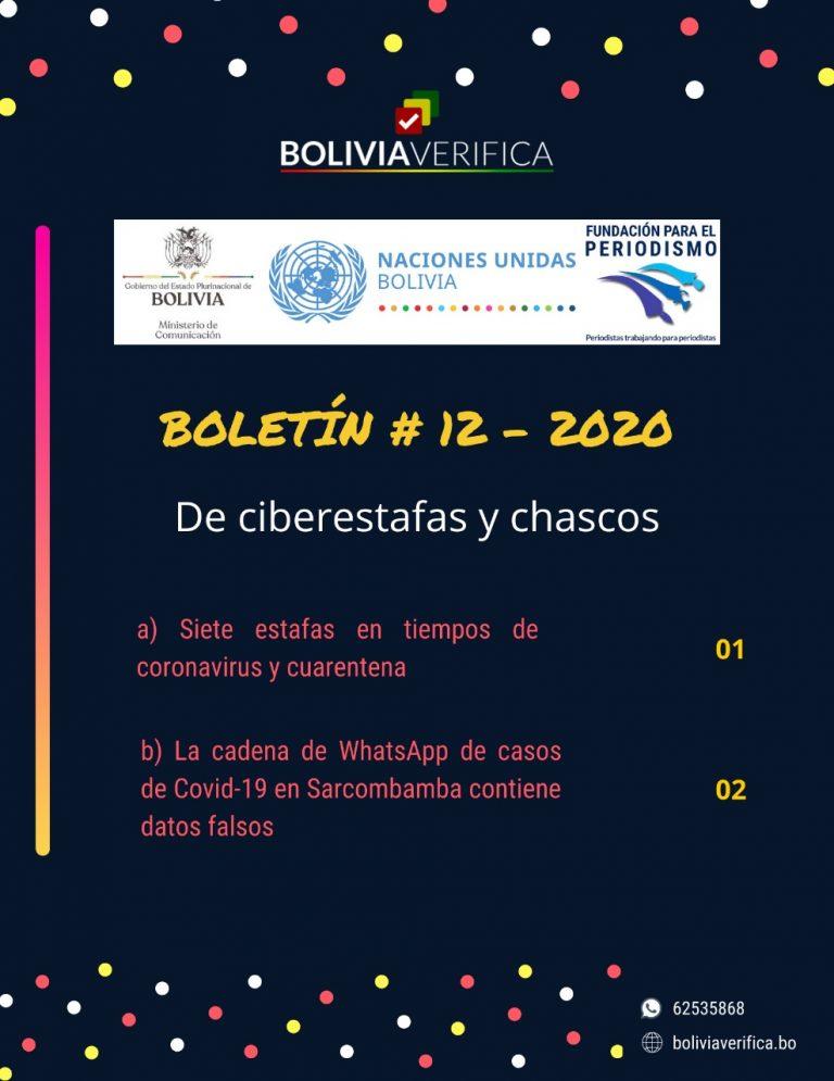De ciberestafas a chascos – Boletín 12 – 2020