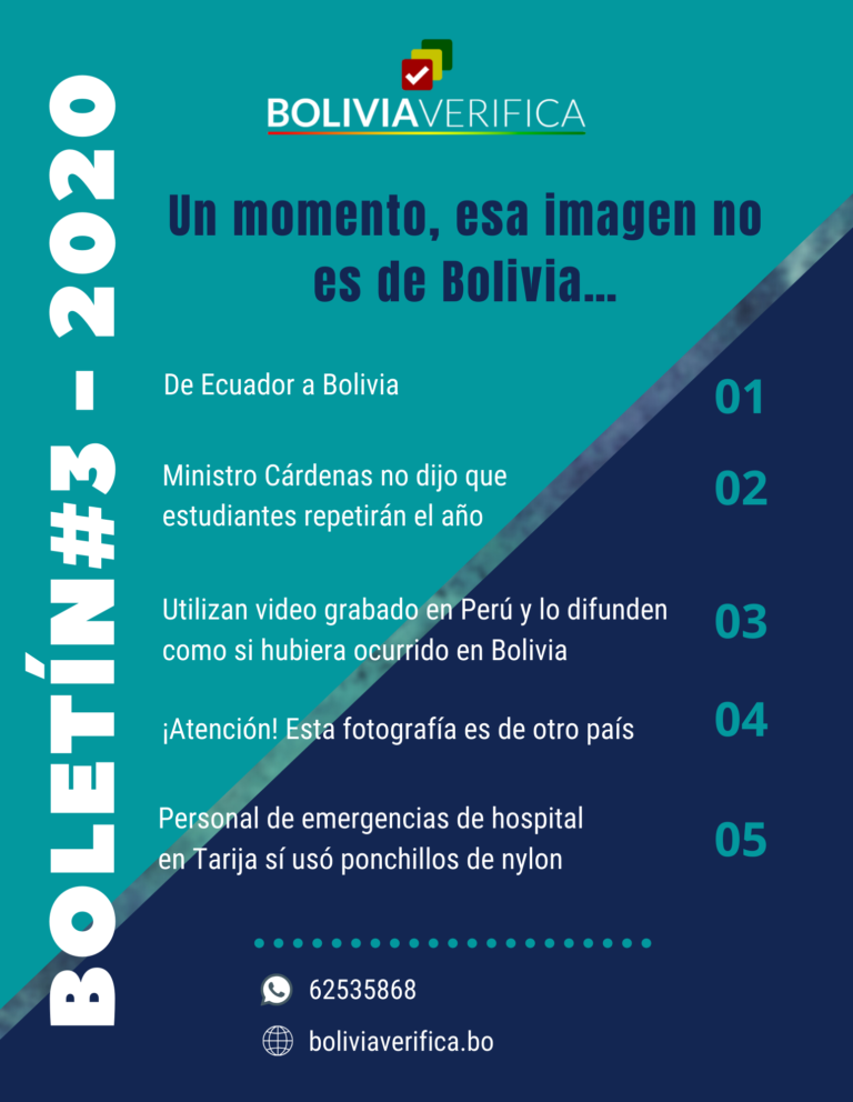 Un momento, esa imagen no es de Bolivia… – Boletín 9 – 2020