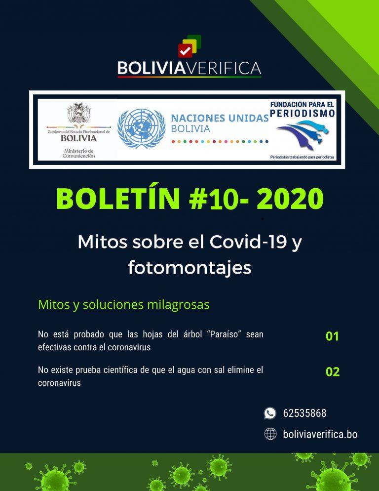 Mitos sobre el Covid-19 y fotomontajes – Boletín 10 – 2020