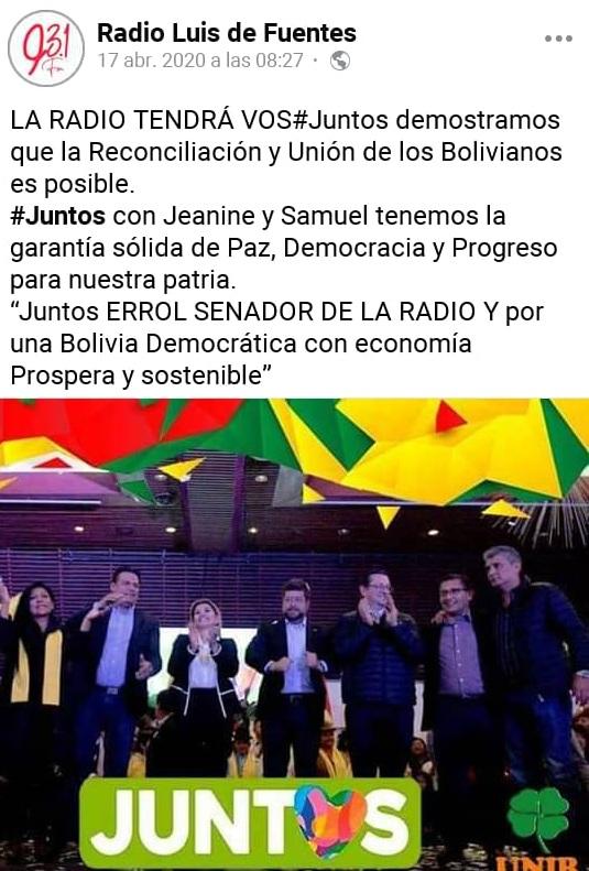 Crean una página falsa de radio Luis de Fuentes en Facebook