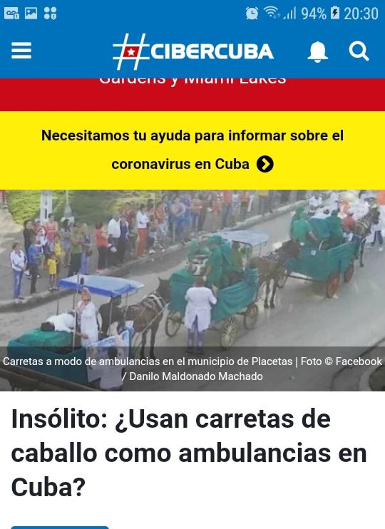 No usan carretas para trasladar pacientes con COVID-19 en Cuba