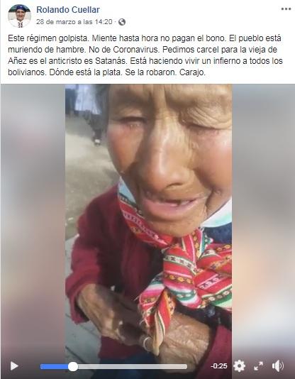 VIDEO: Esta abuelita que no cobró su pensión no es de Bolivia, sino de Perú