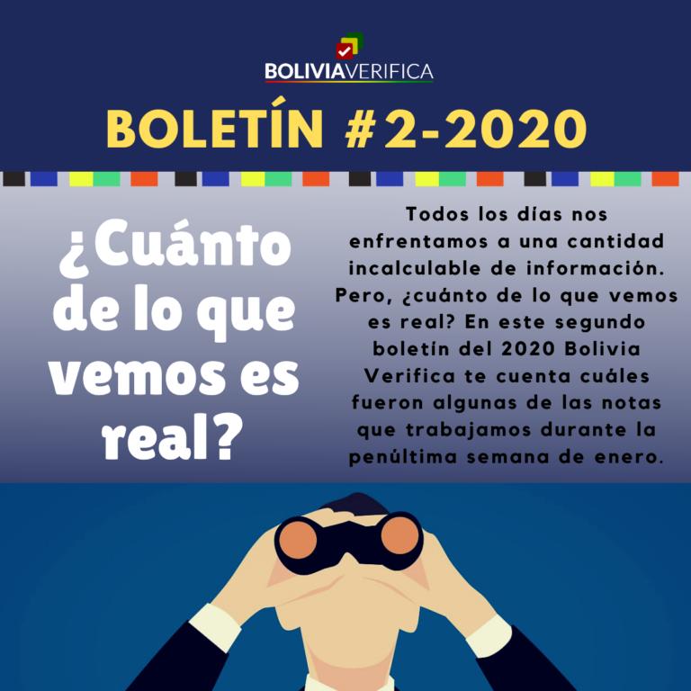 ¿Cuánto de lo que vemos es real? – Boletín 2 – 2020