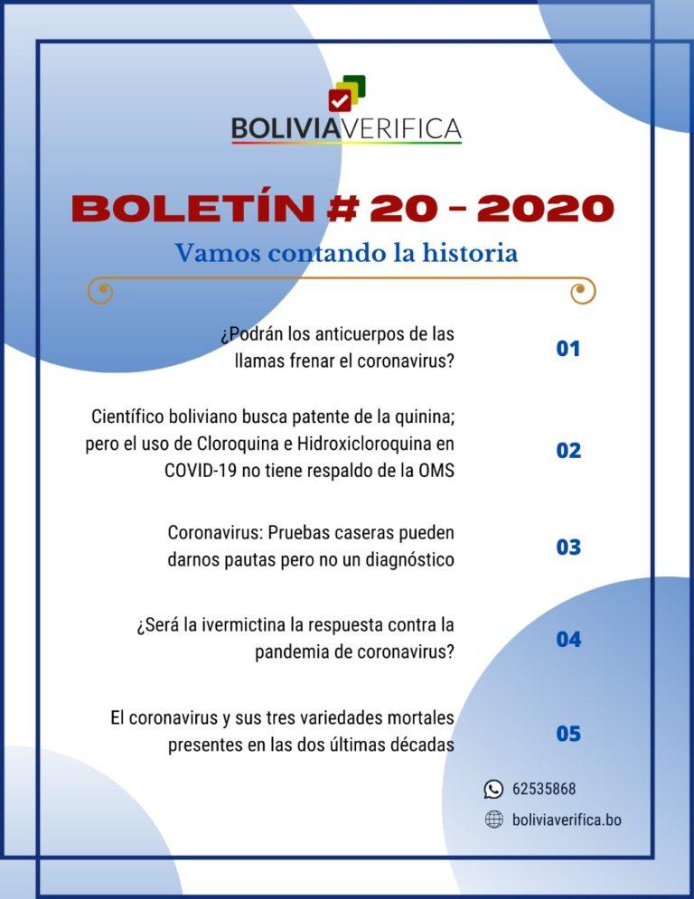 Vamos contando la historia – Boletín 20 – 2020