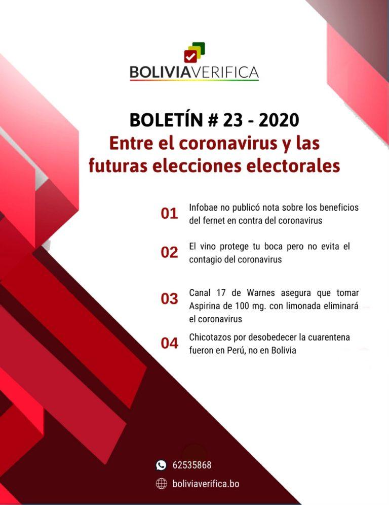 Entre el coronavirus y las futuras elecciones electorales – Boletín 23 – 2020