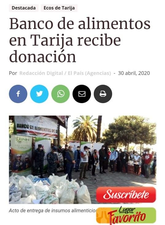 Entrega de alimentos en Tarija genera pugna entre oficialismo y sectores ciudadanos