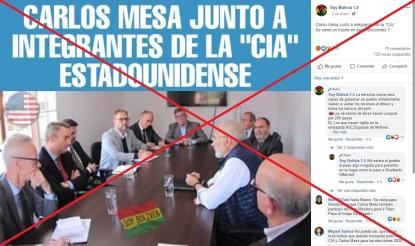 Carlos Mesa no se reunió con la CIA, sino con embajadores de Europa
