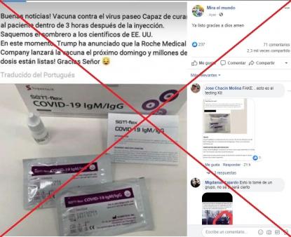 Falso: no existe vacuna contra el Coronavirus