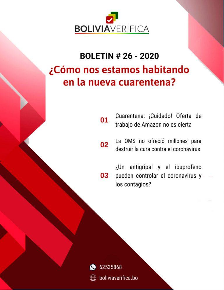 ¿Cómo nos estamos habitando en la nueva cuarentena? – Boletín 26 – 2020