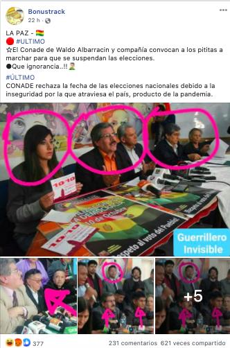 CONADE no convocó a ninguna marcha contra las elecciones
