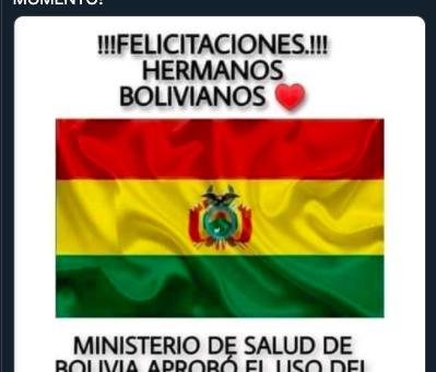 Miguel Bosé afirma que Bolivia usará dióxido de cloro: Falso