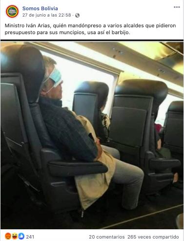 Difunden fotografía con una persona que aseguran es el ministro Arias, él se mofa y la califica de falsa