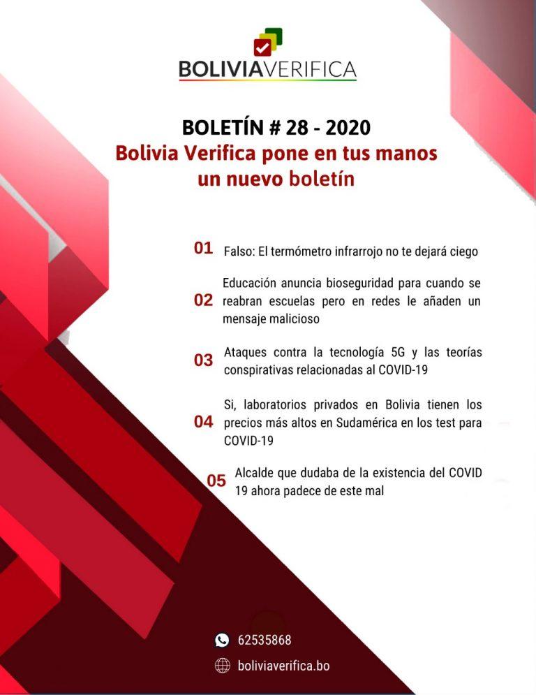 Bolivia en tus manos un nuevo boletín – Boletín 28 – 2020