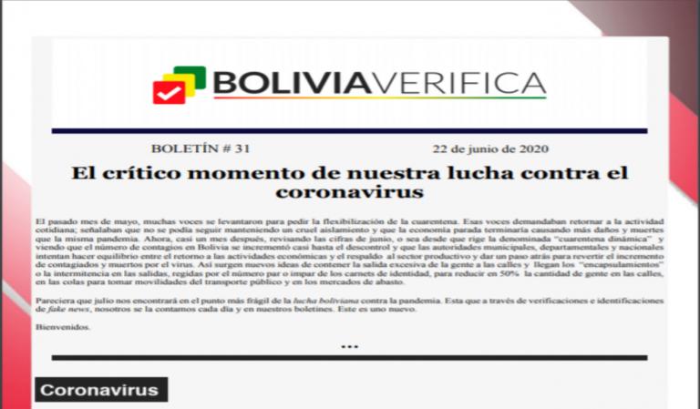 Boletín 31 – El crítico momento de nuestra lucha contra el coronavirus – 2020