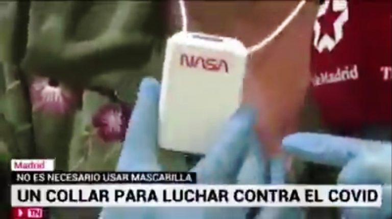 Falso: No hay prueba que el collar ionizante de la NASA te proteja del COVID-19