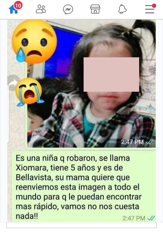 Xiomara, la niña perdida que fue encontrada, pero que se sigue buscando en América Latina hace más de tres años