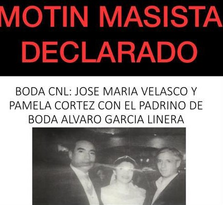 Falso, García Linera no fue padrino de bodas del coronel Velasco, director de la FELCV en Santa Cruz