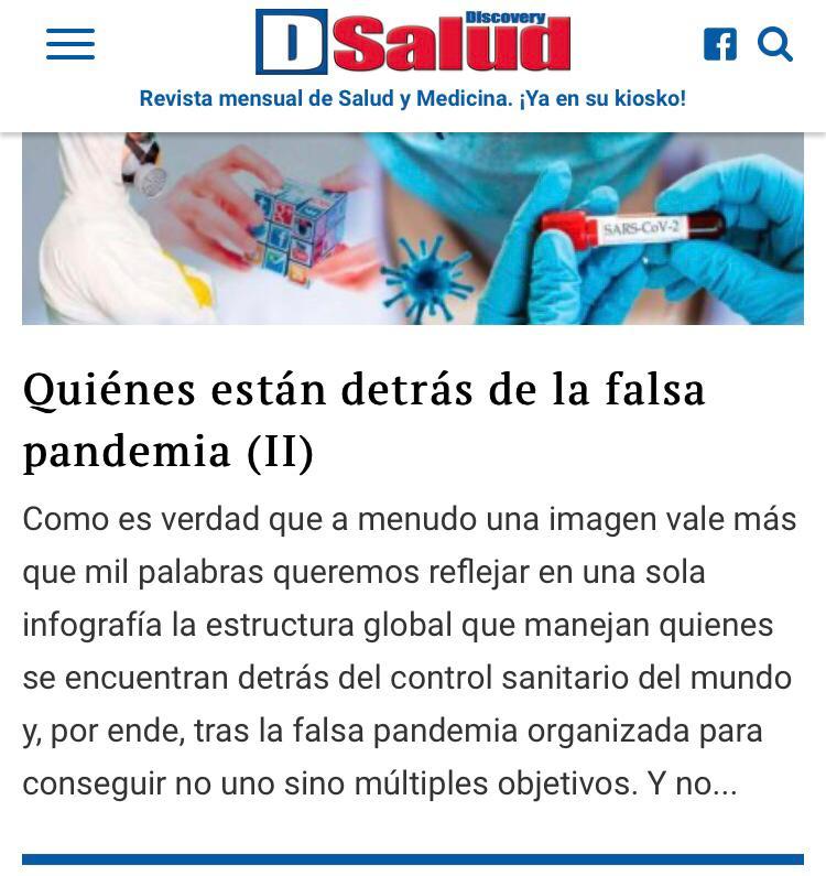 Revista pseudocientífica niega la existencia del coronavirus