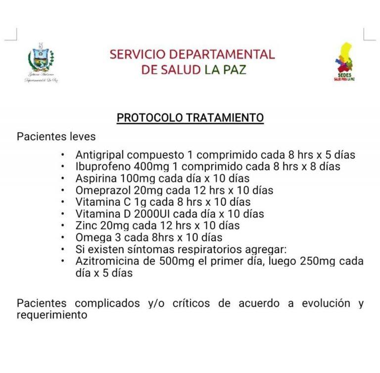 Circula un protocolo para el tratamiento de pacientes con COVID-19