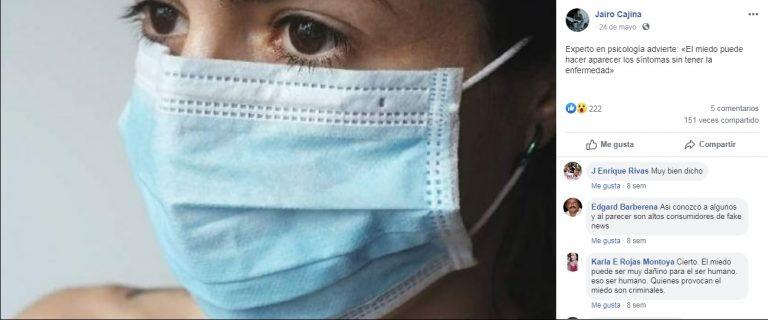 ¿El miedo puede hacer que una persona sana sienta los síntomas del coronavirus? ¡Sí!