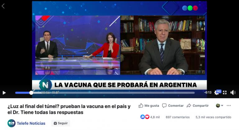 Verdadero: La vacuna contra COVID-19 se probará en Argentina