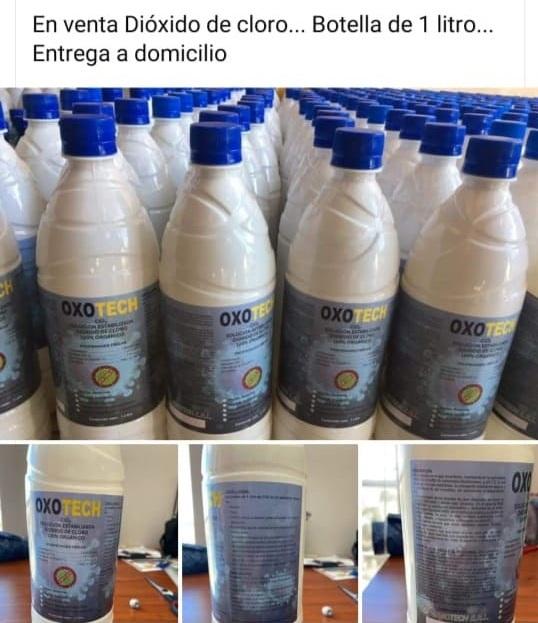 Peligrosas ofertas de botellas de dióxido de cloro en las redes sociales