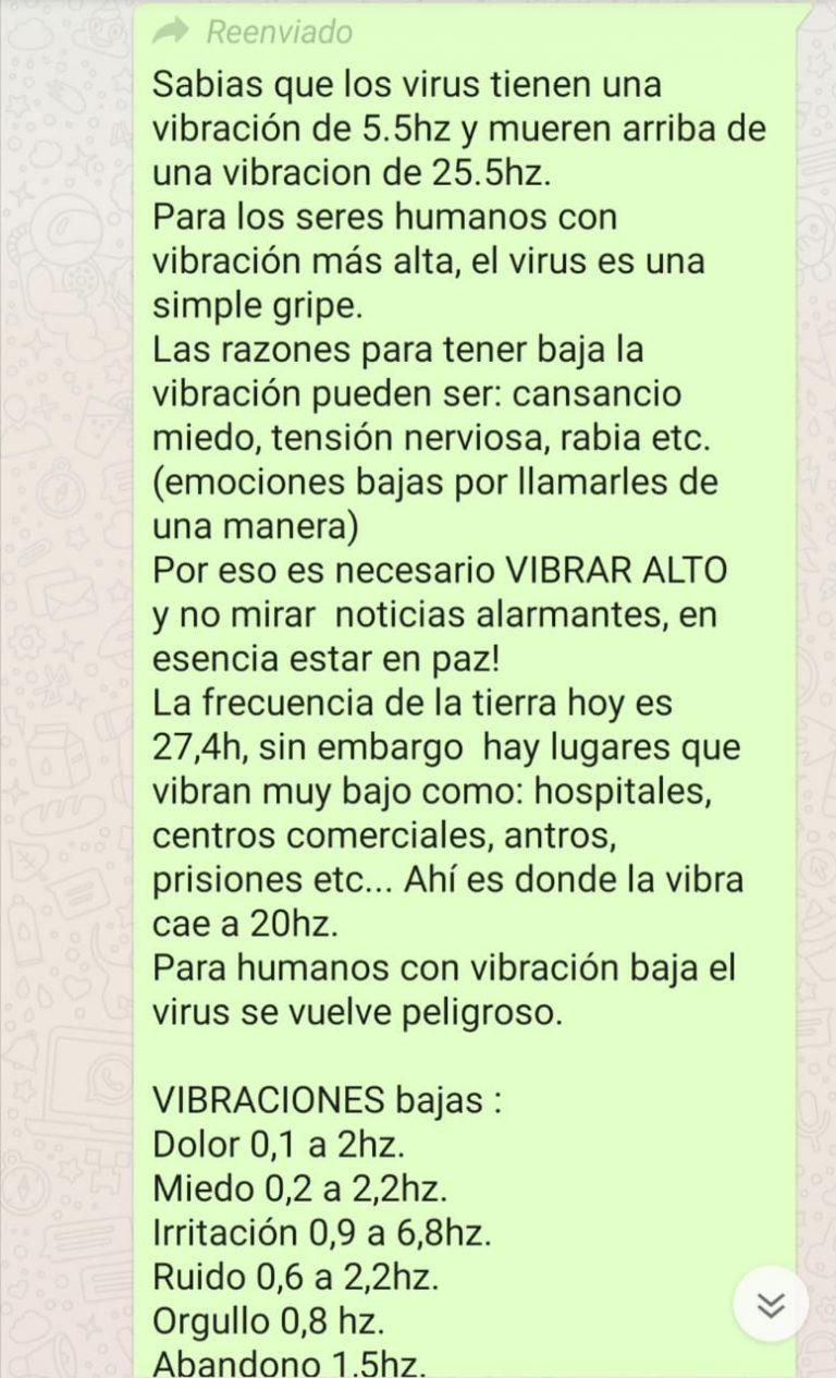 No se puede curar ni prevenir el coronavirus con vibraciones