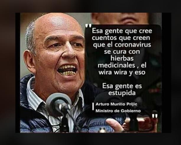 """El ministro Murillo no calificó a la gente que consume hierbas medicinales de """"estúpida"""""""