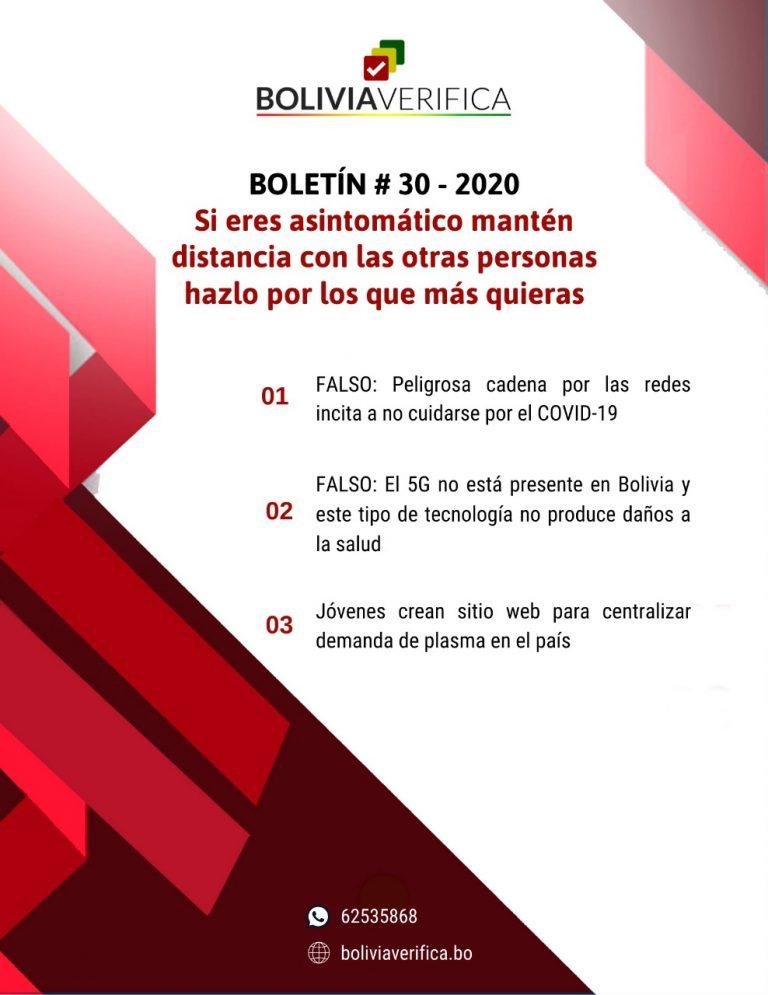 Si eres asintomático mantén distancia con las otras personas hazlo por los que más quieras – Boletín 30 – 2020