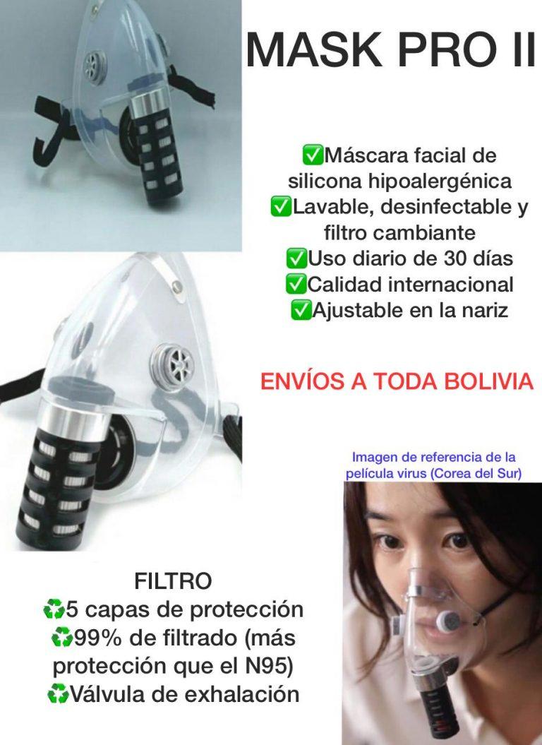 Mascarilla facial de silicona tiene mayor protección que la N95