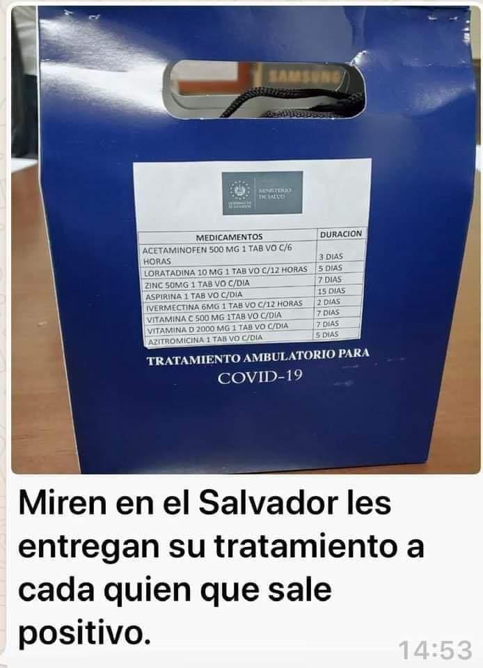 El gobierno de El Salvador reparte kits de medicamentos a pacientes con coronavirus