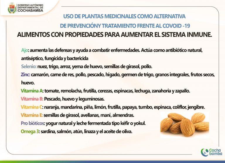 Gobernación de Cochabamba promueve consumo de hierbas contra los síntomas del COVID-19